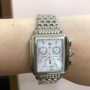 Michele Diamond Mother of Pearl Deco Face+Band